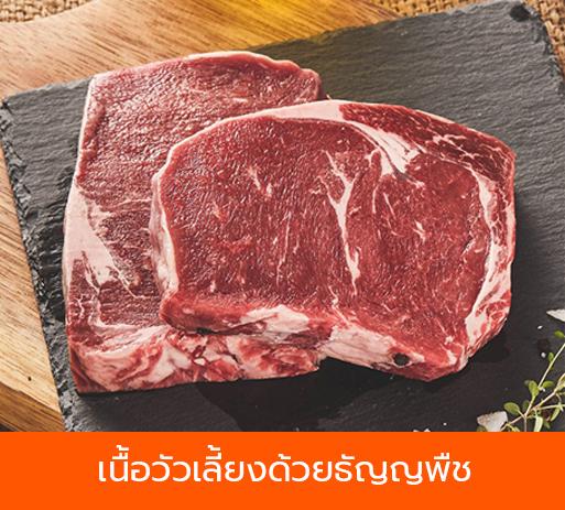 เนื้อวัวที่เลี้ยงด้วยธัญพืช